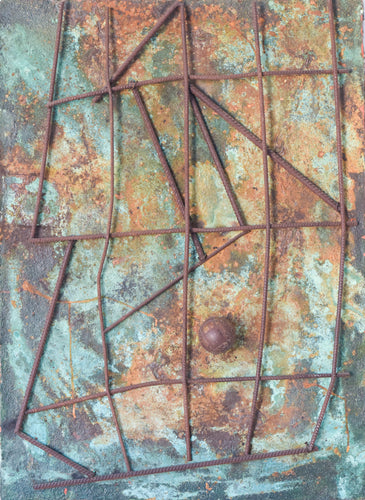 Abstract Assemblage with Iron Forms