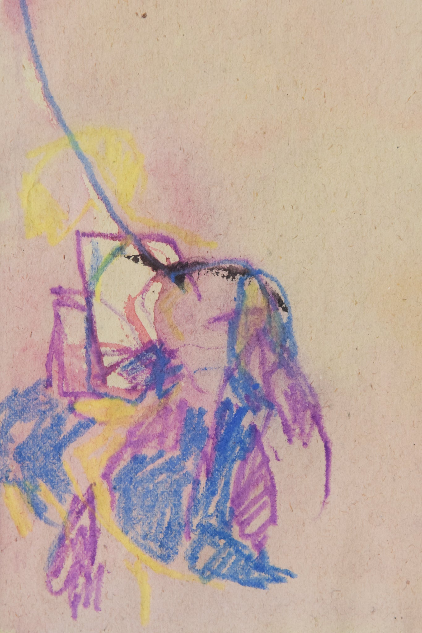 Abstract Expressionist Painting in Crayon__Detail