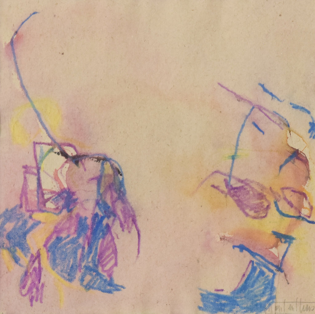 Abstract Expressionist Painting in Crayon