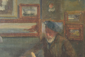 'Lady and Antique Dealer' Interior Scene_Detail