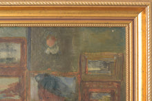 Load image into Gallery viewer, 'Lady and Antique Dealer' Interior Scene_Frame Detail