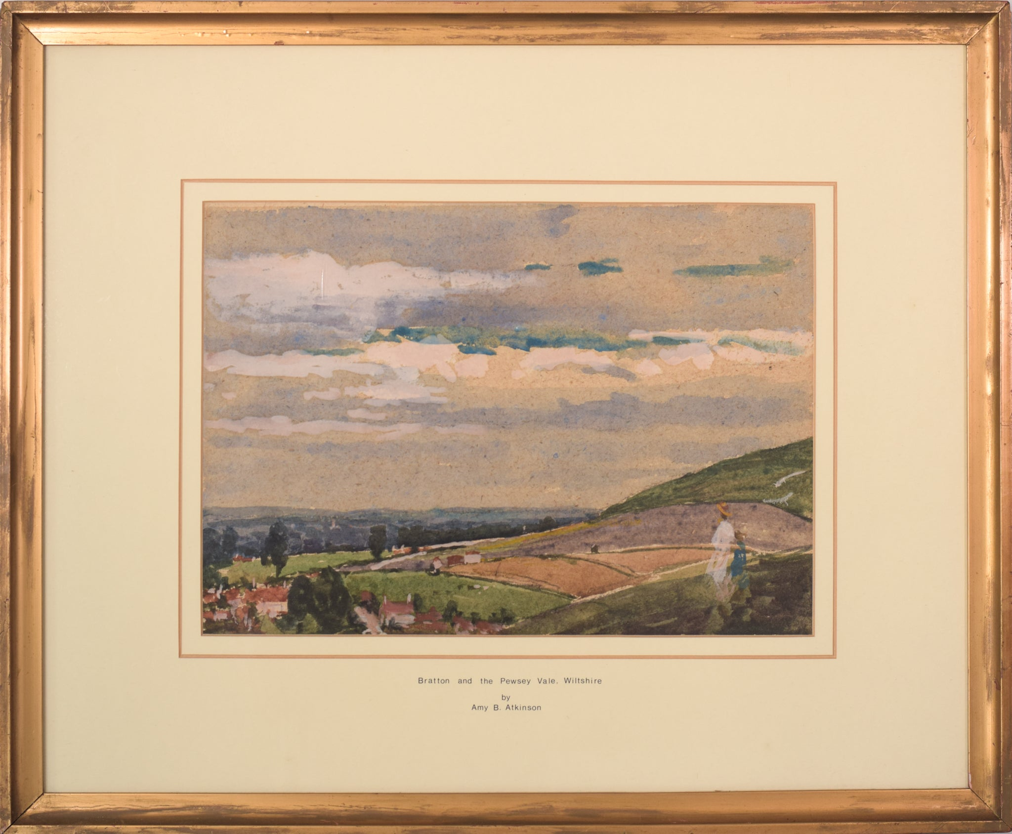 'Bratton and Pewsey Vale, Wiltshire' by Amy Atkinson_Framed