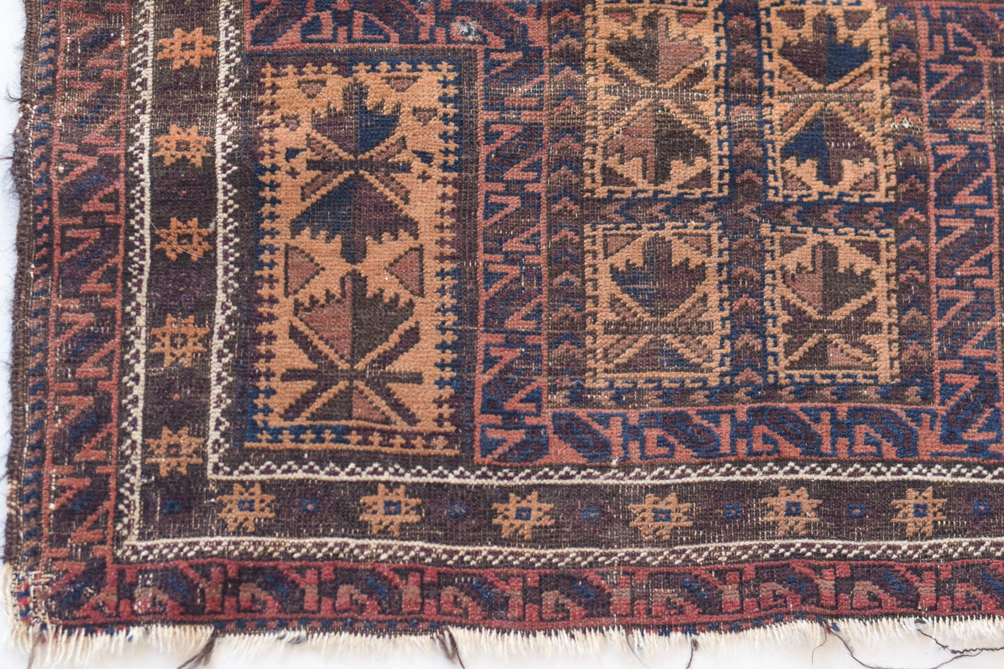Interesting tribal Persian handmade rug