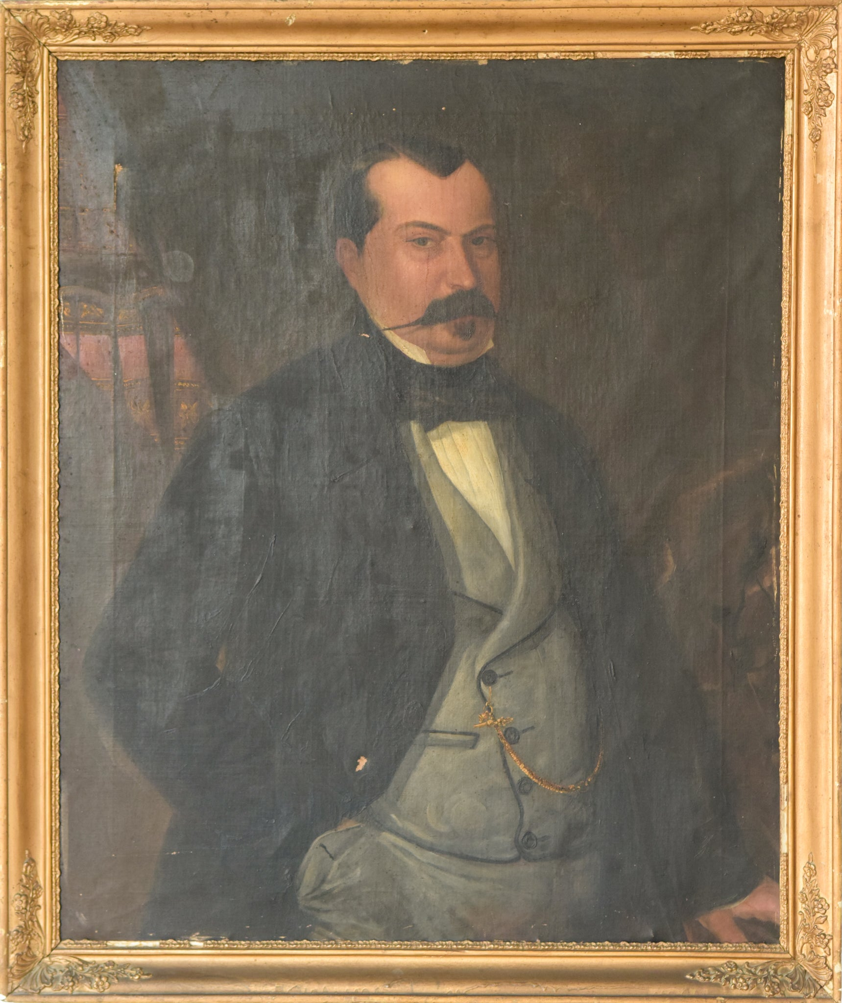 Large Portrait in Oil of a Spanish Aristocrat_Framed