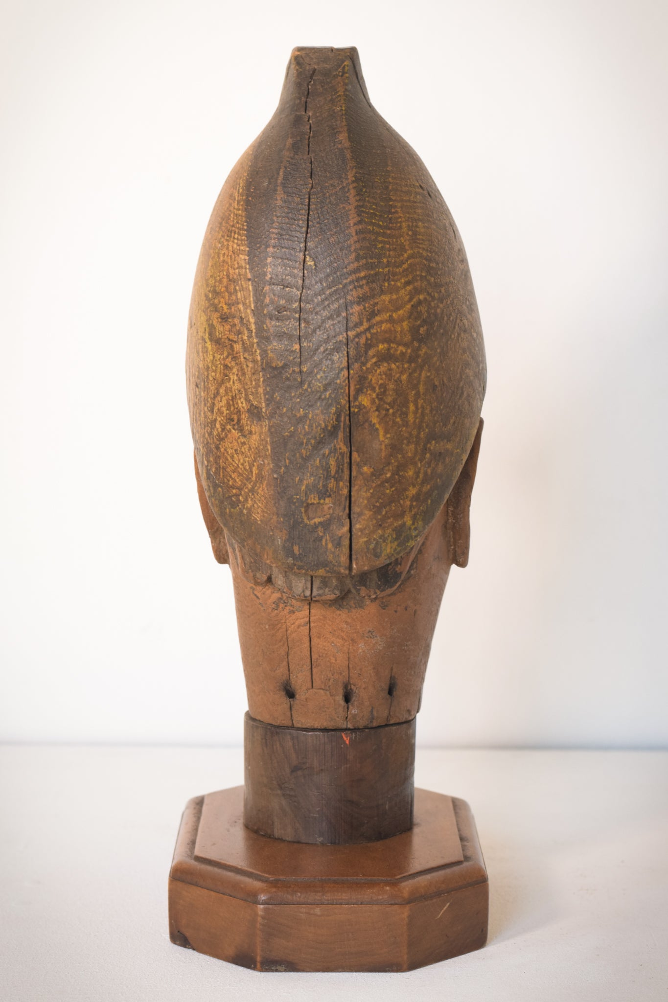 Hand-carved Wooden Head of a Soldier_Back