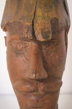 Load image into Gallery viewer, Hand-carved Wooden Head of a Soldier