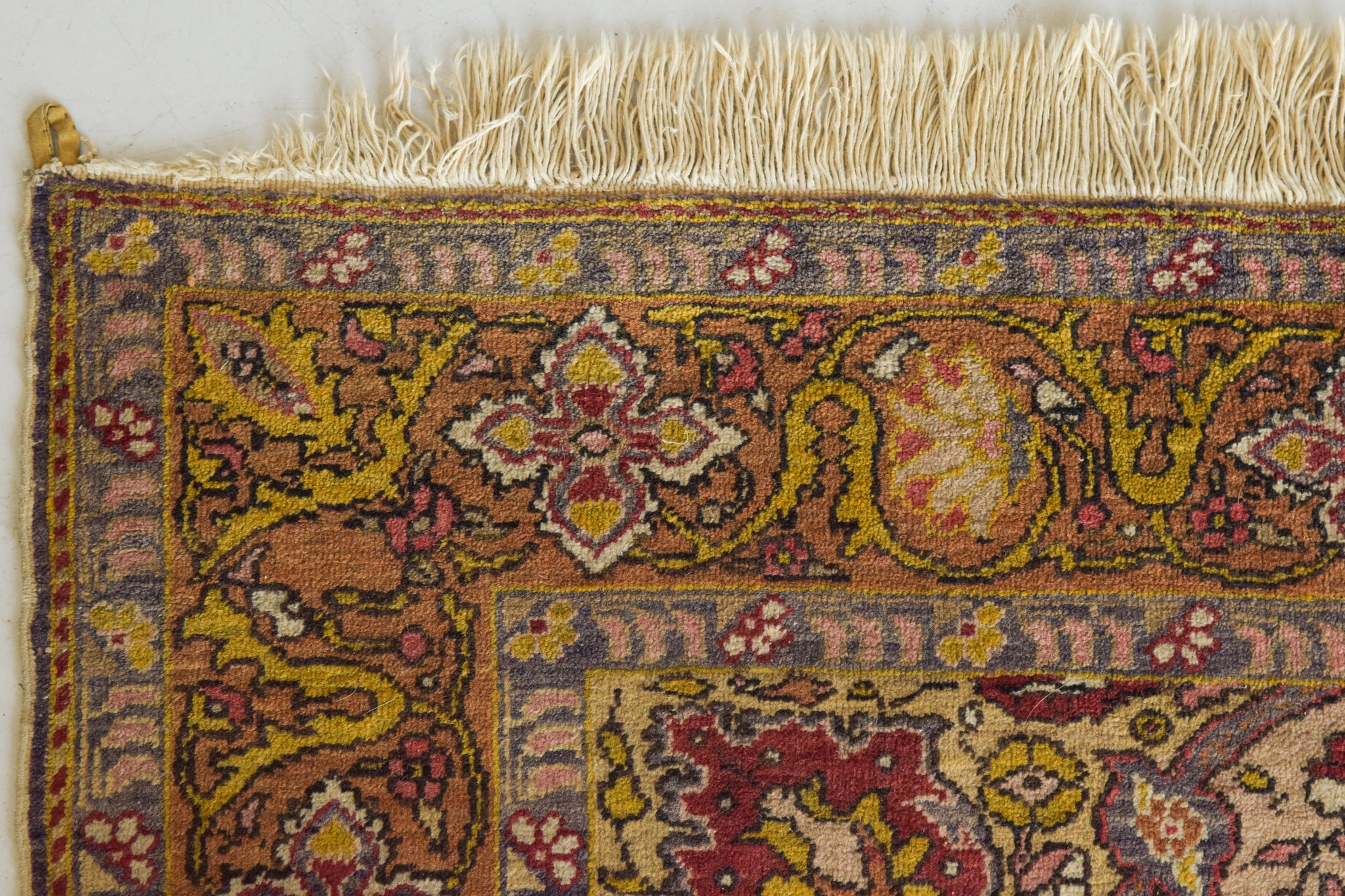 Interesting Handmade Antique Floral Persian Rug