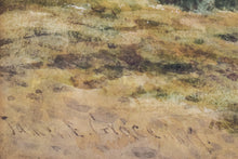 Load image into Gallery viewer, 'Rural Landscape' watercolour by James Edward Grace_Signature