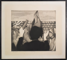 Load image into Gallery viewer, 'Sally Army' etching by Margaret Sheaff_Framed