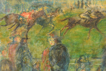 Load image into Gallery viewer, 'A Day at the Races' Oil on canvas_Detail