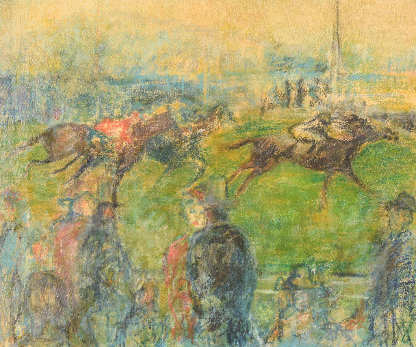 'A Day at the Races' Oil on canvas