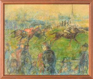 'A Day at the Races' Oil on canvas_Framed
