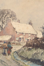 Load image into Gallery viewer, 'Village in the Snow' Watercolour Snowscape_Detail