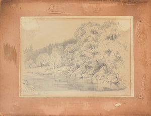 'On The Cree' Landscape Drawing of a River_Board