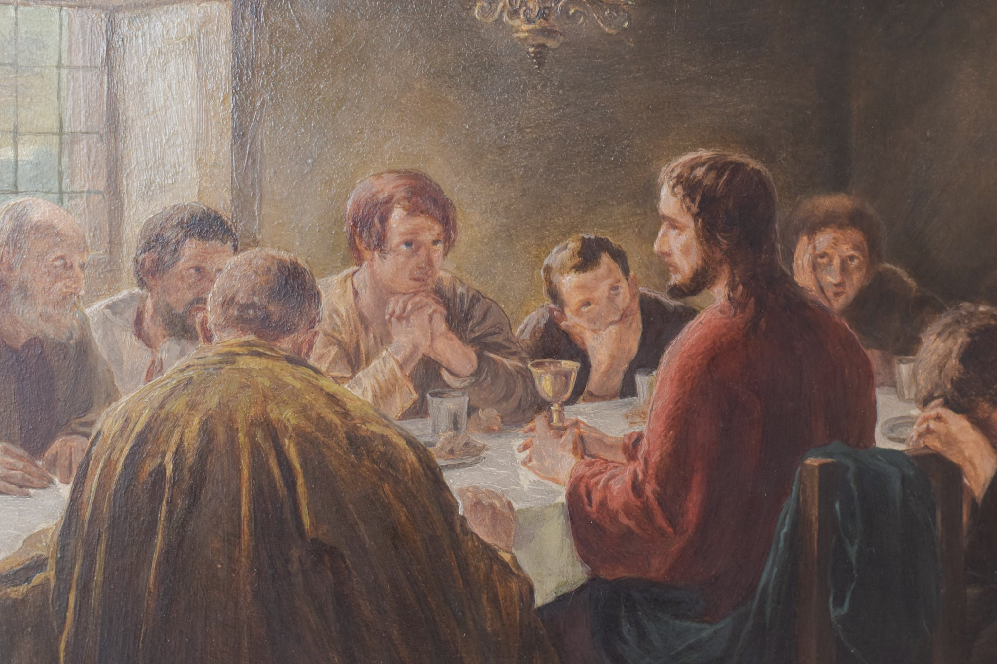 Last Supper. Oil on panel.