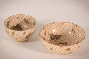 Two Satsuma Bowls with butterflies