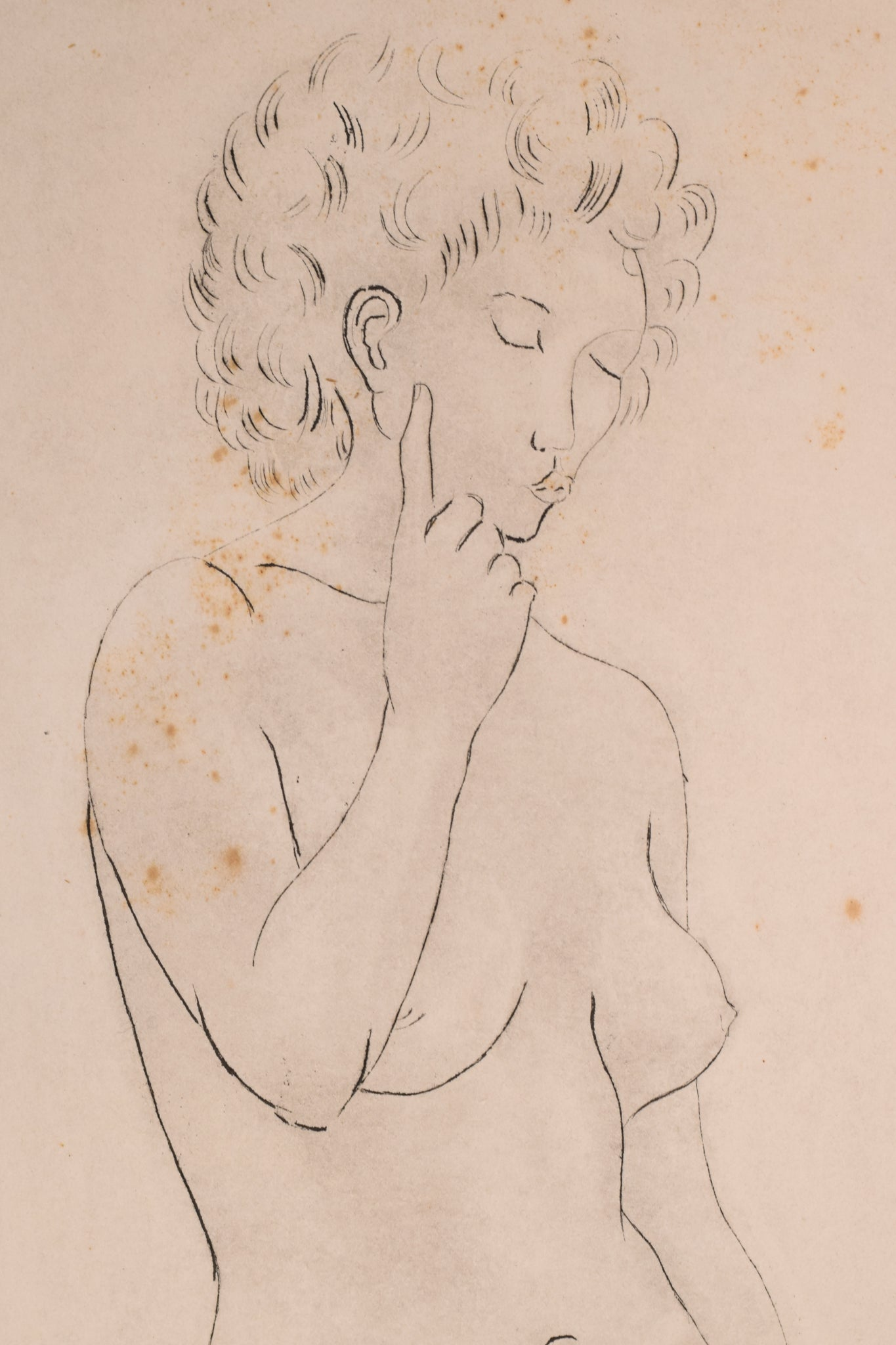 Etching of a Nude