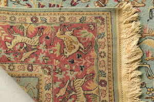 Large Handmade Persian Rug With Animals