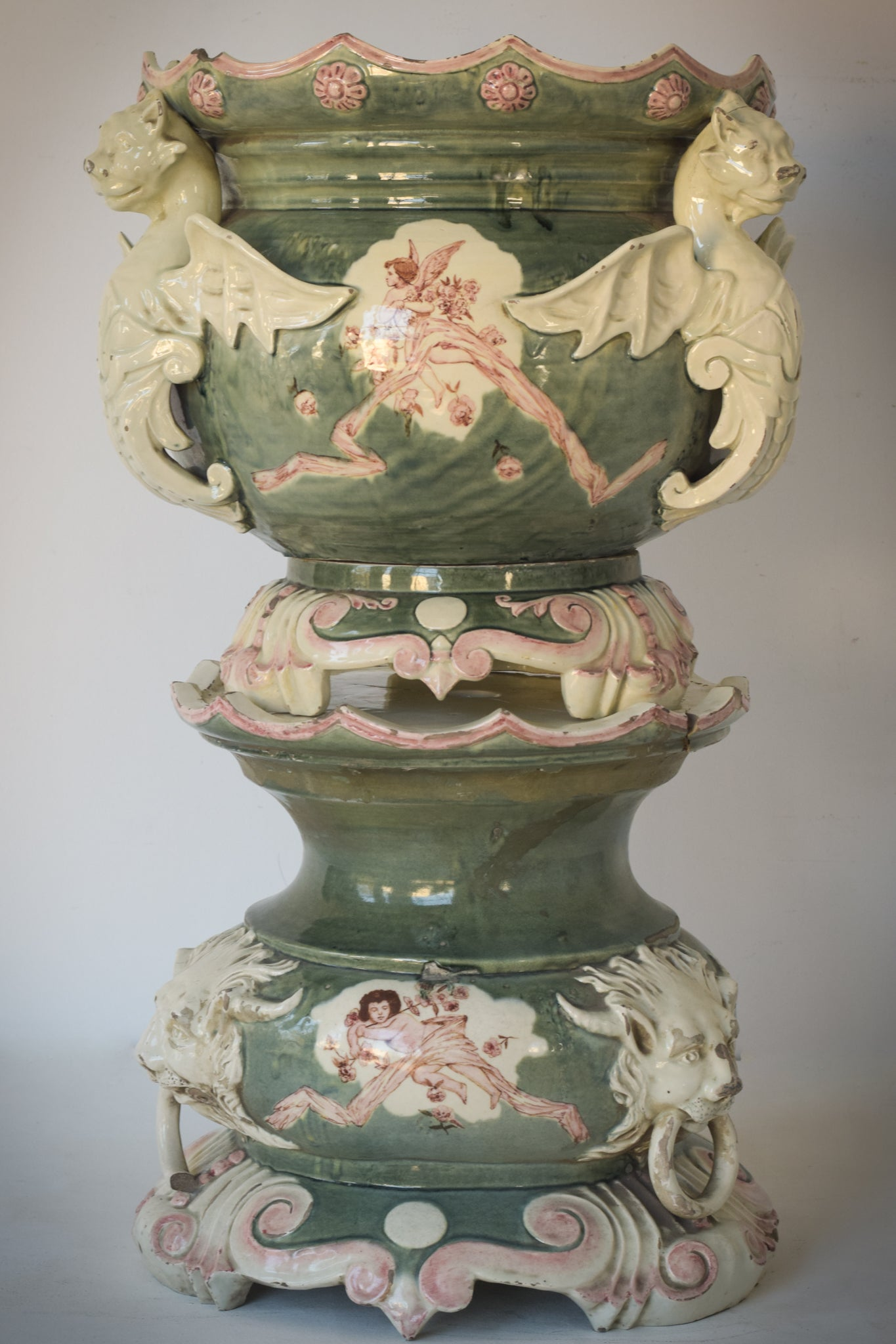 Massive Magnificent Decorative Jardinière With Lots of Character
