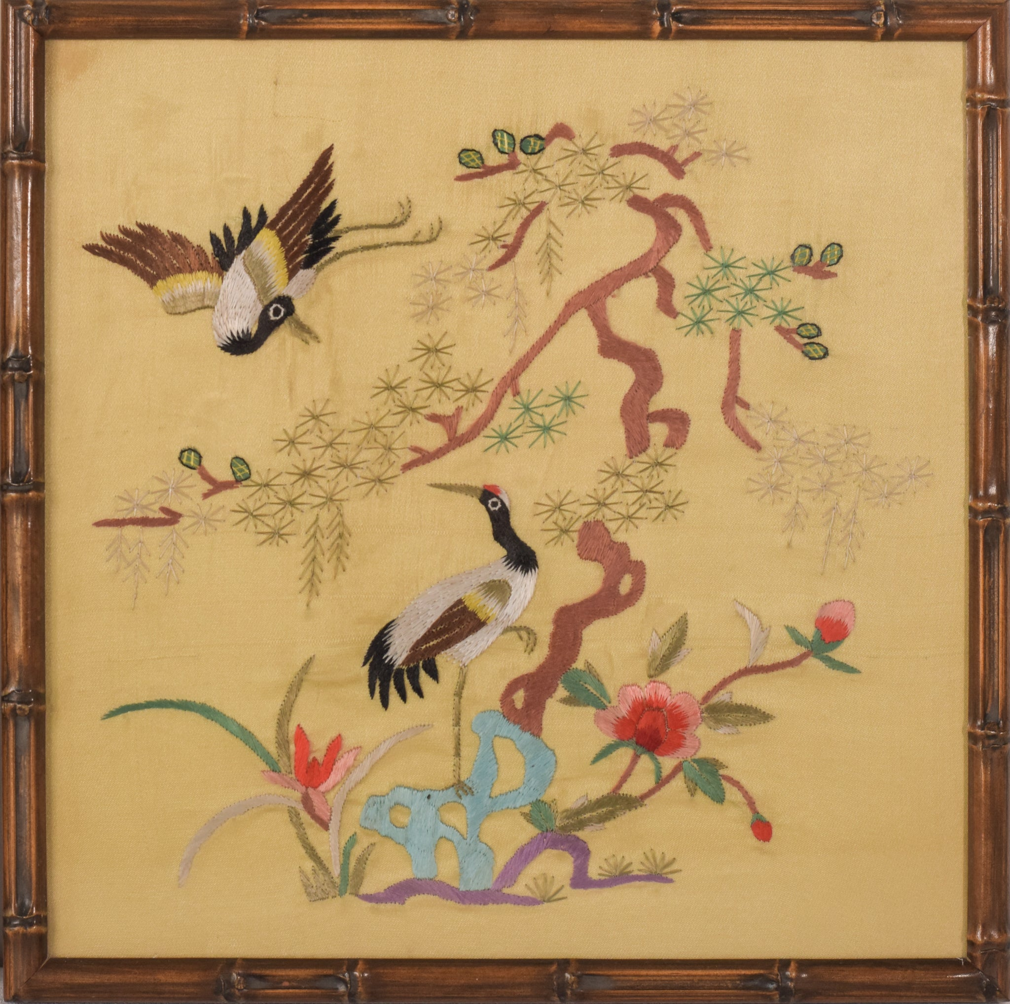 Pair of Chinese Silk Panels