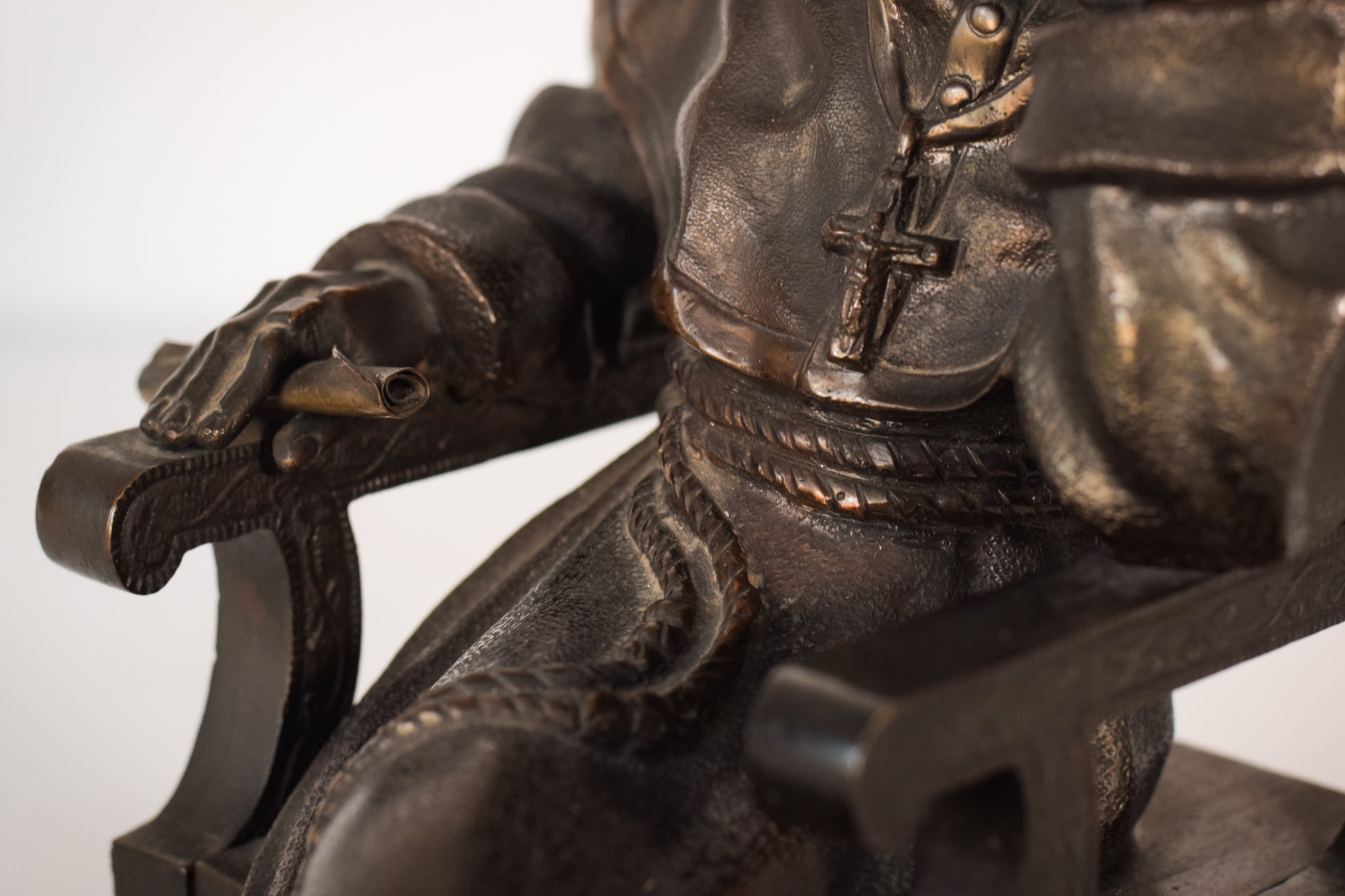 Bronze Monk or Cardinal Seated