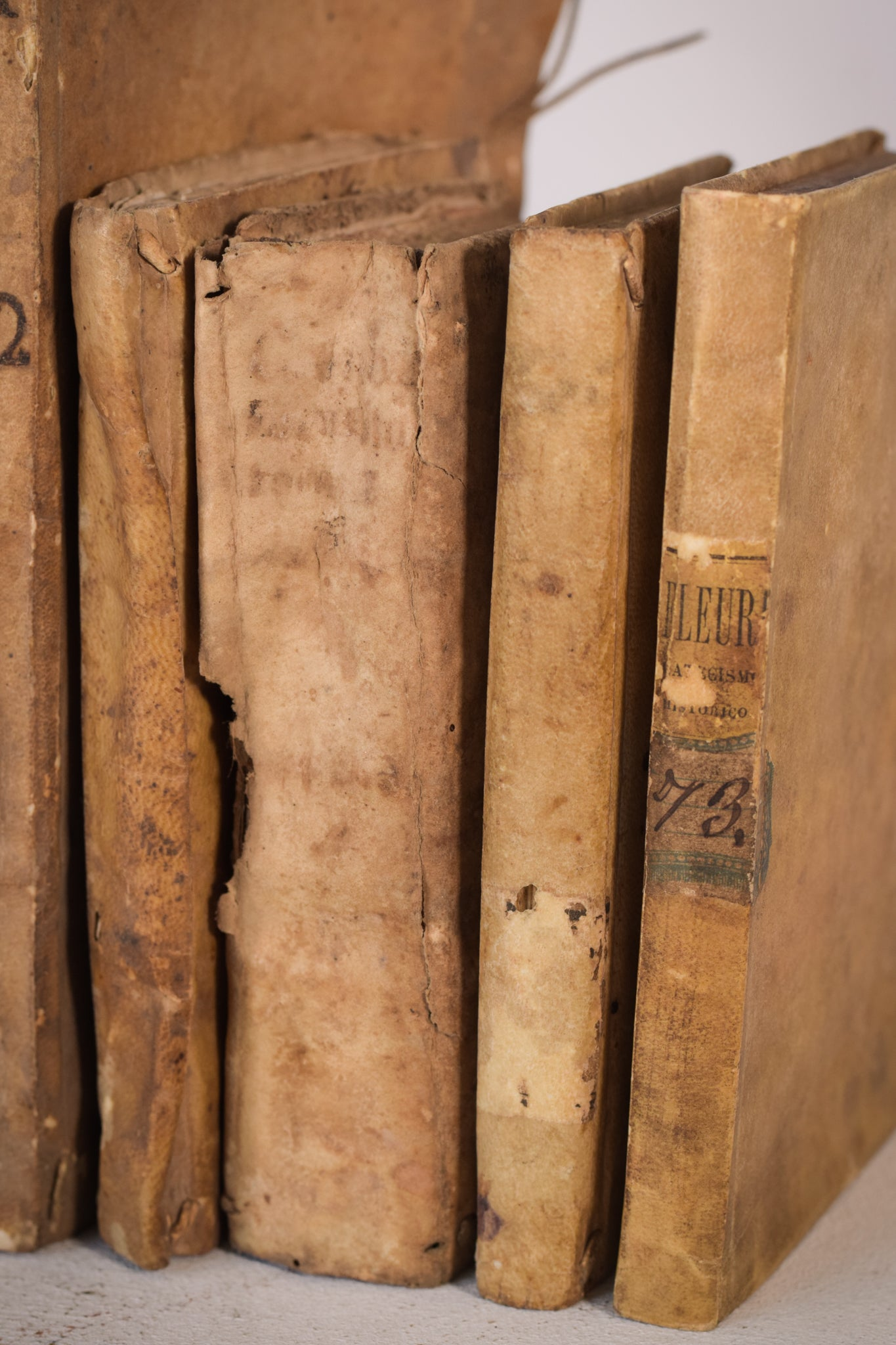 A collection of decorative 18th Century Books