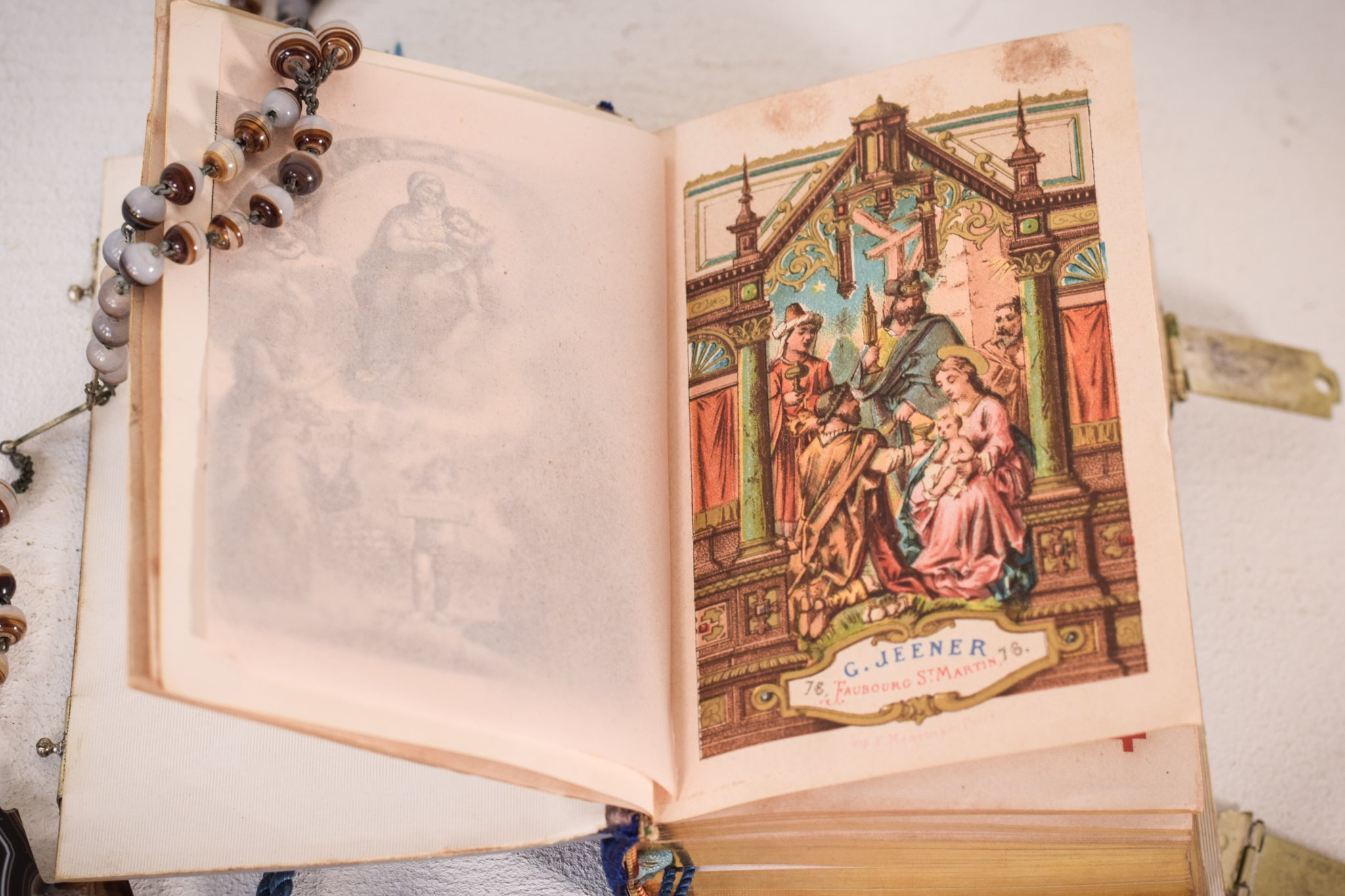 Hand Carved Mother of Pearl Book of Hours