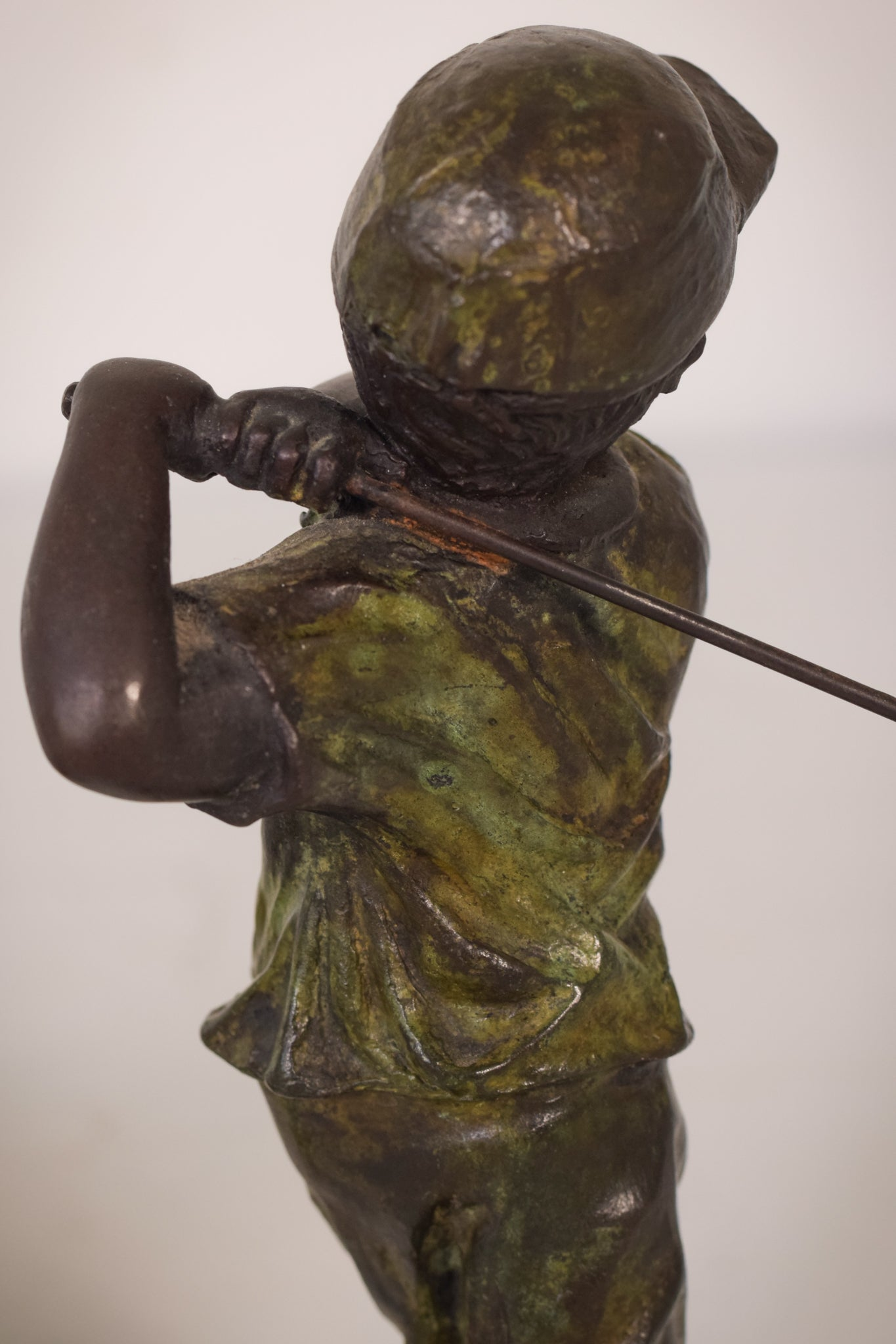 Two Signed Bronzes of Children Playing Golf