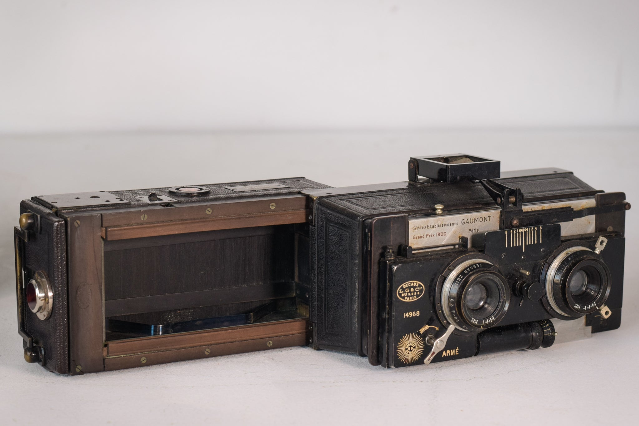 Antique Camera by L. Gaumont & Cie Including the Original Case