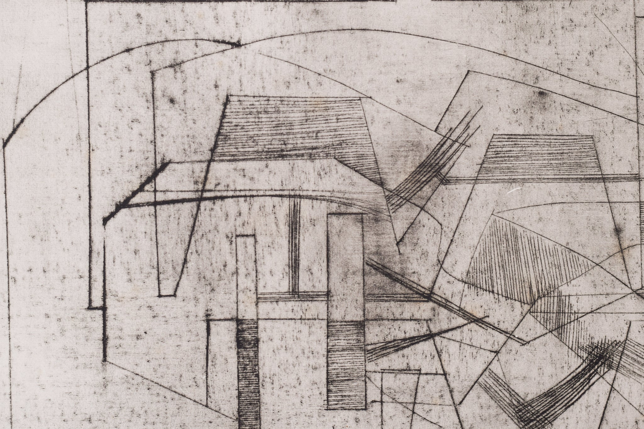 Signed Cubist Etching by Eric Finlay