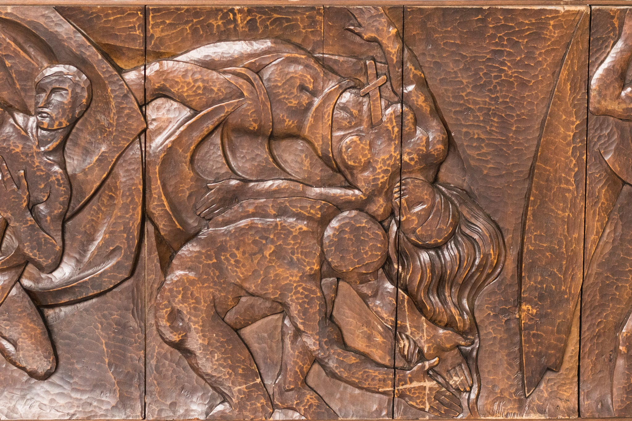 Monumental Carved Panel by Josep Mundet and Joan Palet