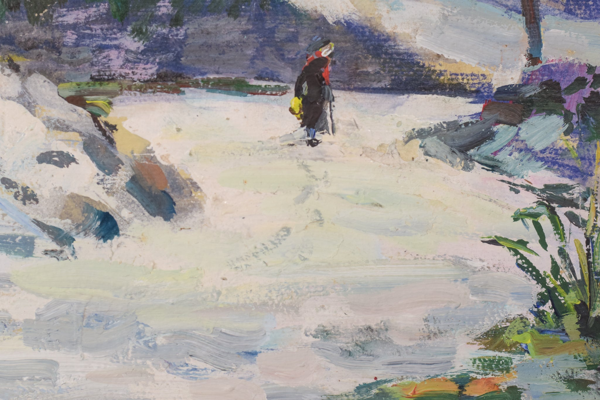 Impressionist Snowscape Painting