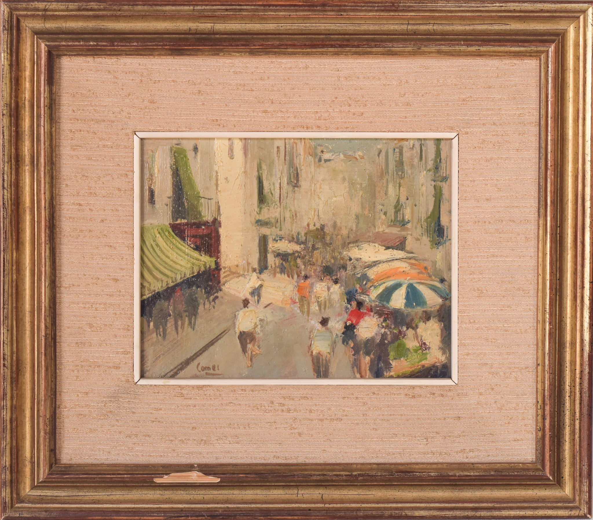 'Mercado' Oil Painting by Joaquim Comes
