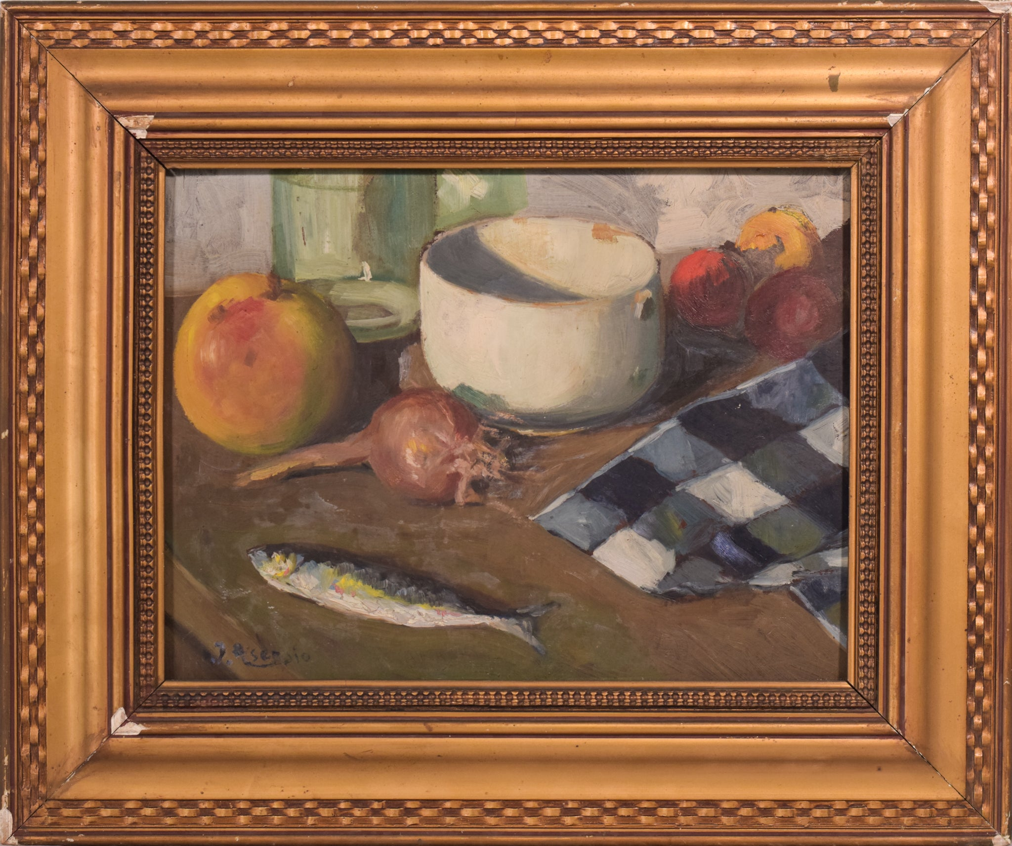 Still Life Oil Painting with Fish