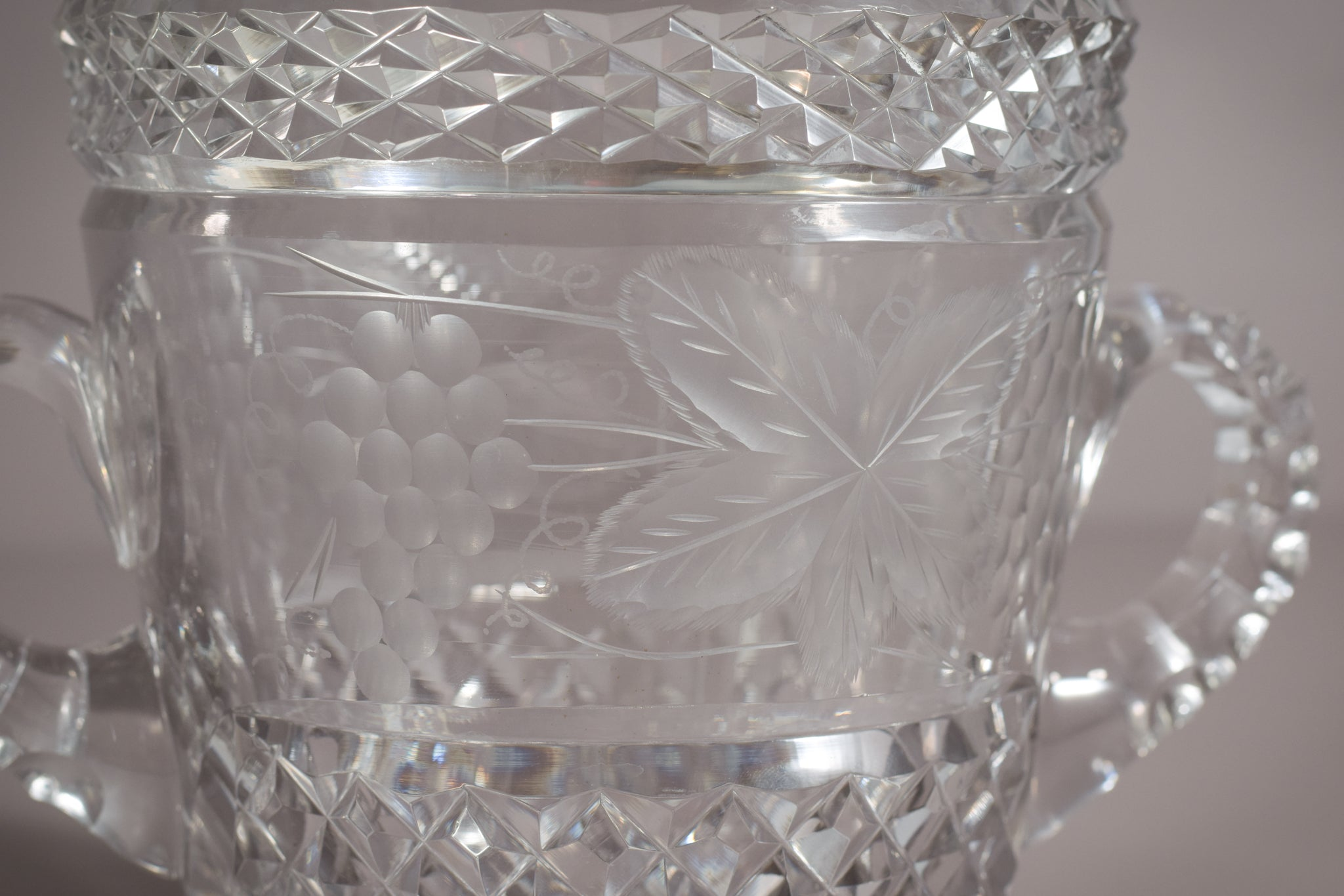 High Quality Cut glass champagne bucket