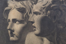 Load image into Gallery viewer, Drawing of Two Antique Sculpted Heads_Detail