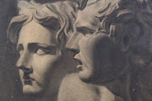 Drawing of Two Antique Sculpted Heads_Detail