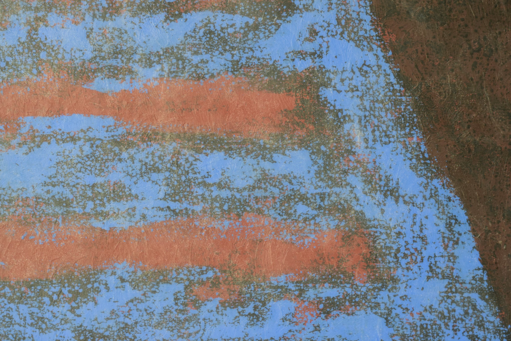 Abstract Composition in Red and Blue_Detail