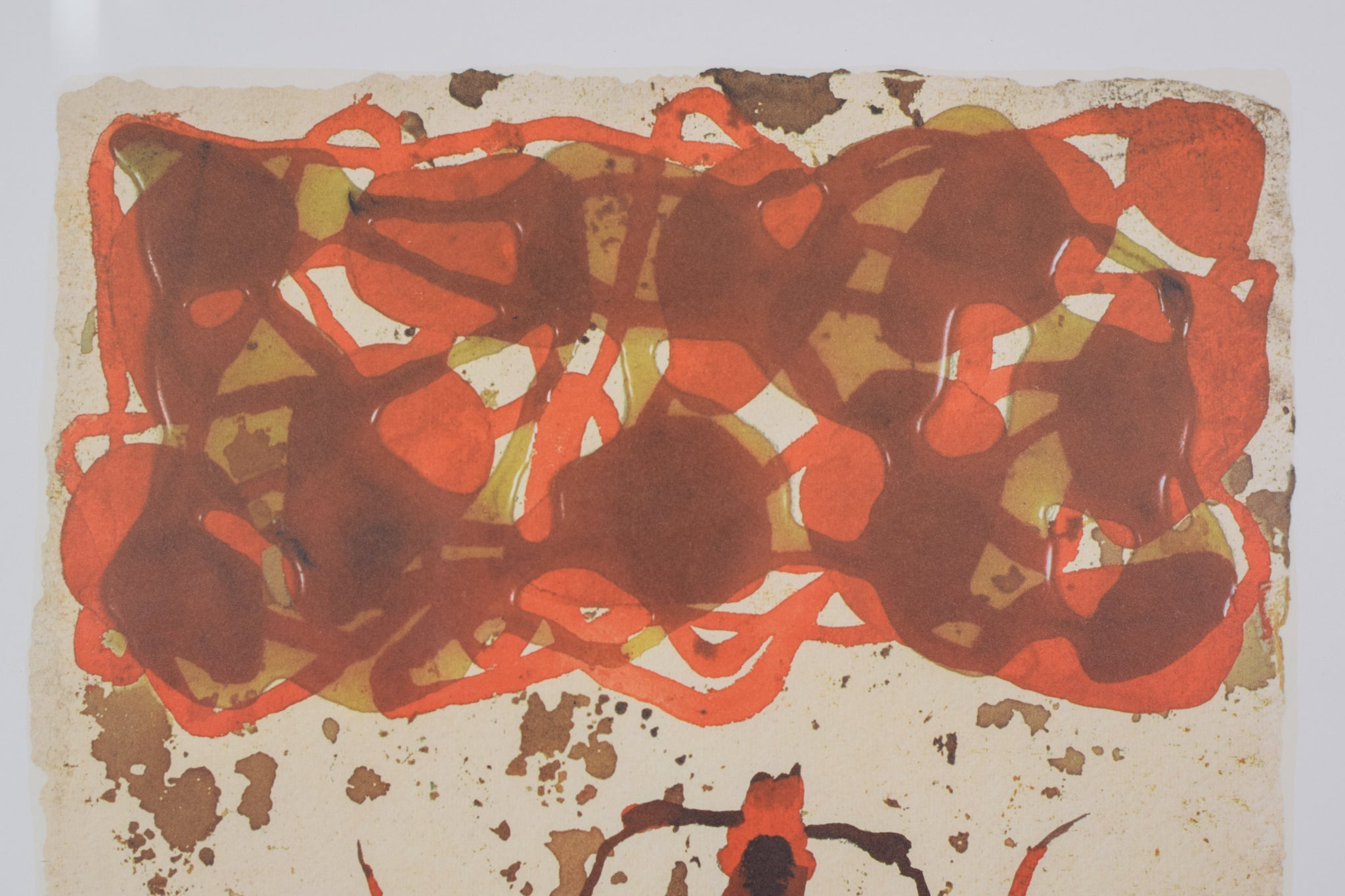 Queen Ant Lithograph in Red and Black_Detail