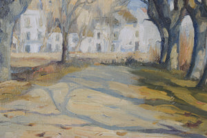 Impressionist Landscape with a Tree-lined Lane_Detail