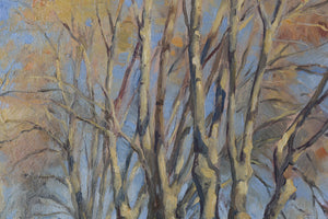 Impressionist Landscape with a Tree-lined Lane_Detail 2