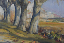 Load image into Gallery viewer, Impressionist Landscape with a Tree-lined Lane_Detail 3