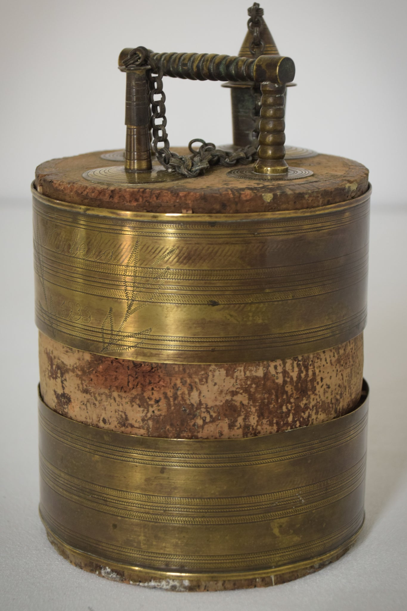 Antique Olive or Wine Barrel_4