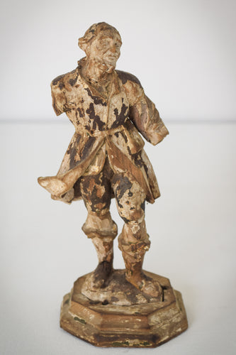 19th-century Carved Wooden Figure