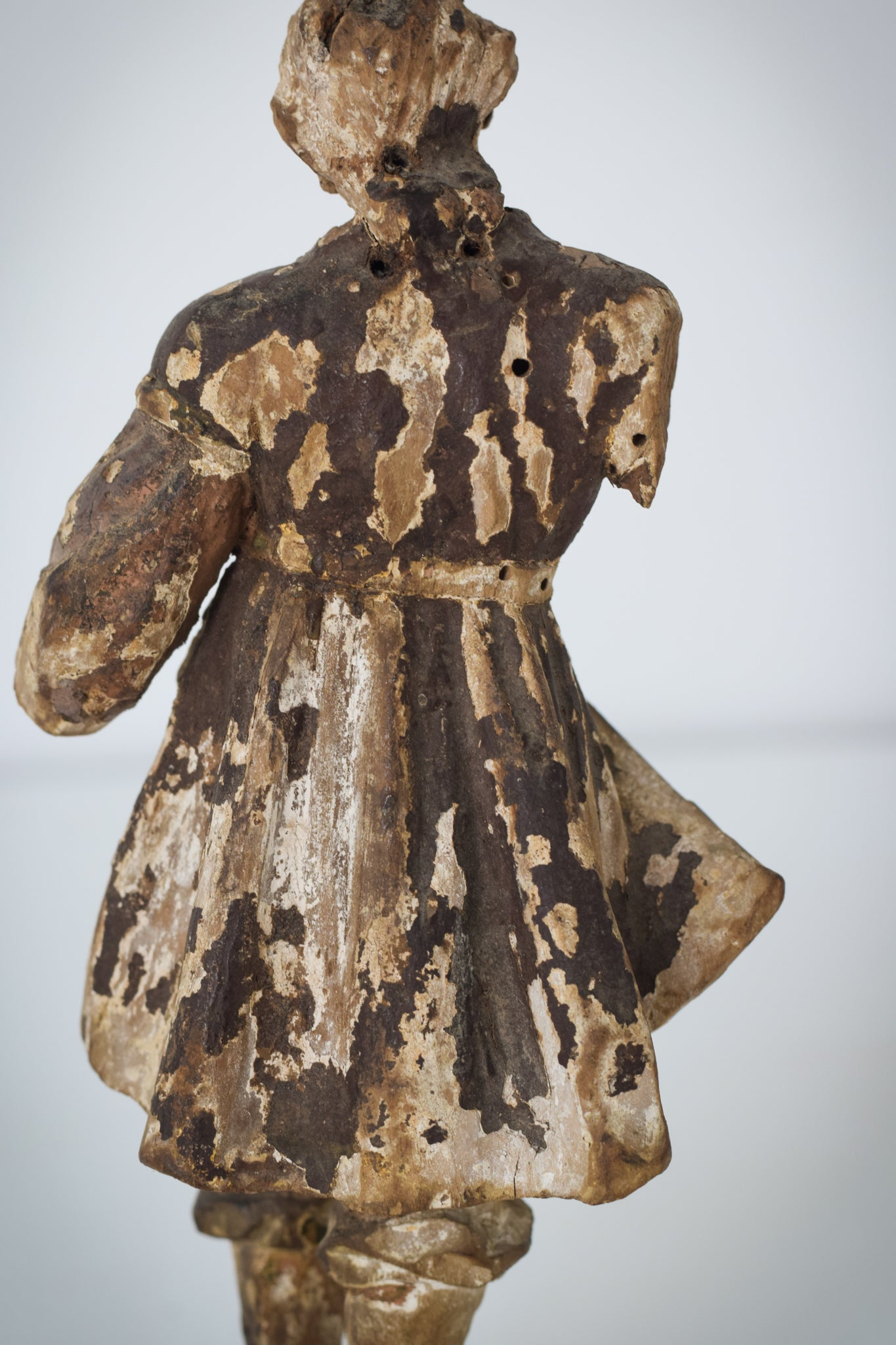 19th-century Carved Wooden Figure_Back