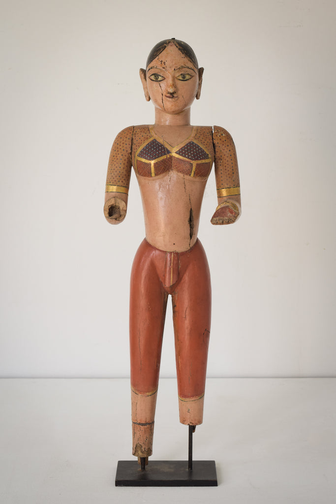 19th-century Hand Carved Indian Figure