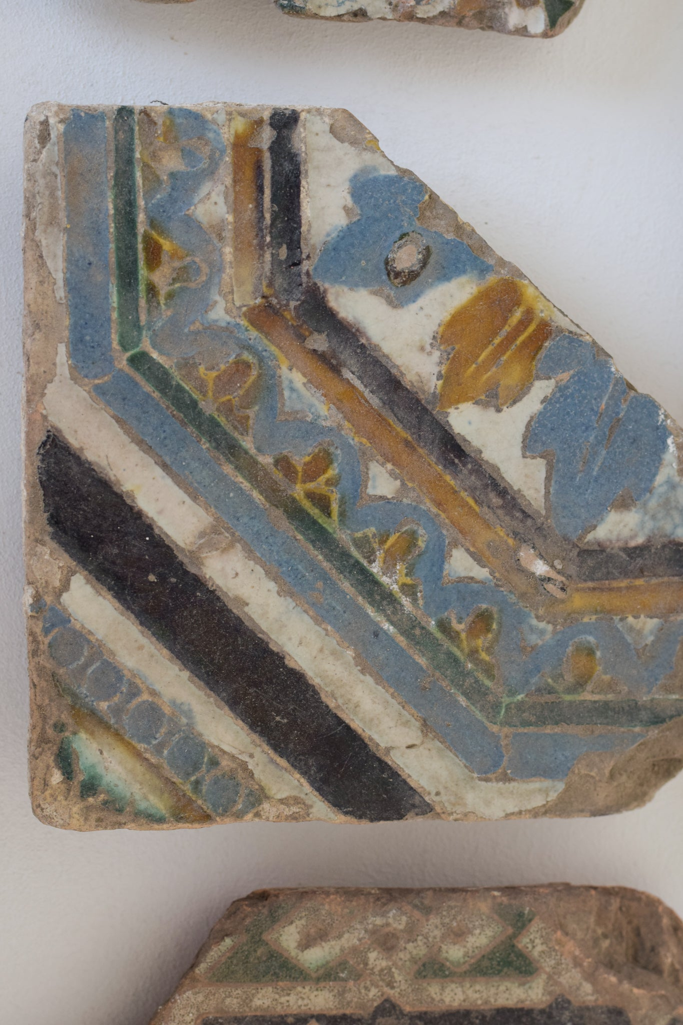 Five early majolica 17th to 18th century Tiles