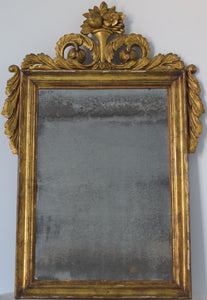 Hand Carved Antique Gilded Mirror