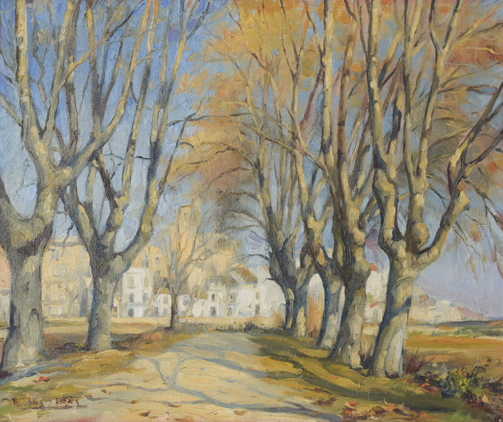 Impressionist Landscape with a Tree-lined Lane
