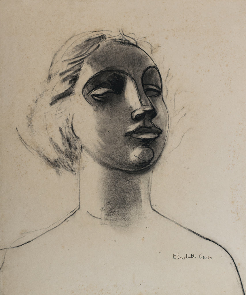 Portrait Drawing of a Woman by Elisabeth Gross